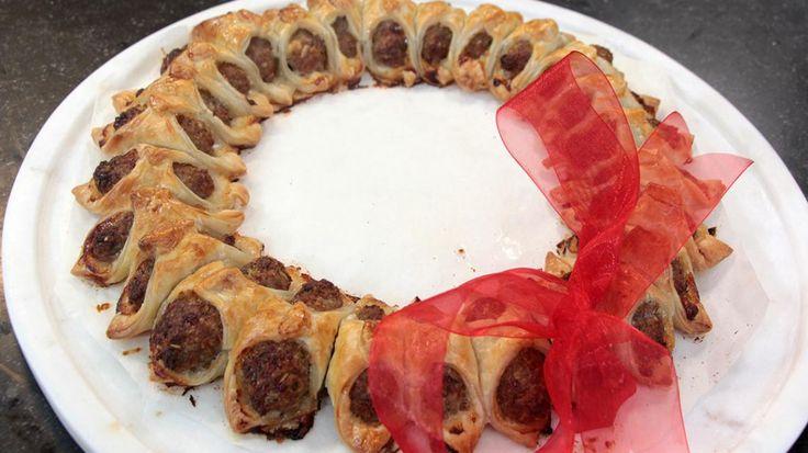 Goed weekend met Sam De Bruyn: worstenbrood kerstkrans | VTM Koken