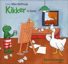 """kikker is boos : boek rond """"kunst"""""""