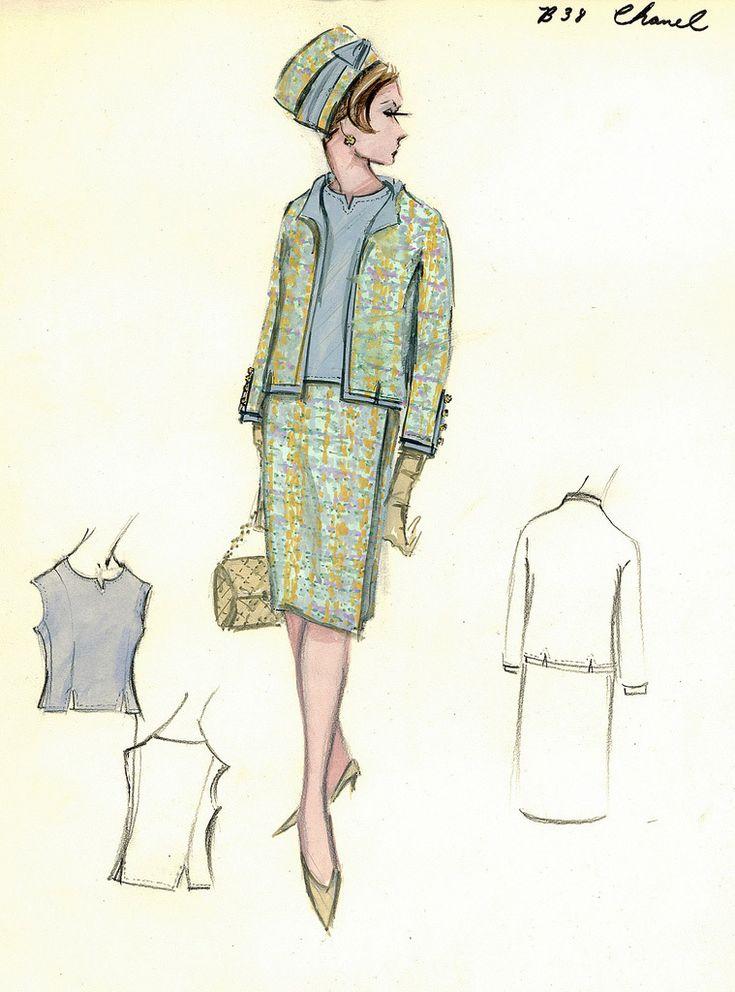 vintage fashion sketches | Vintage Clothing Blog | Adored Vintage Blog | For all things vintage ...