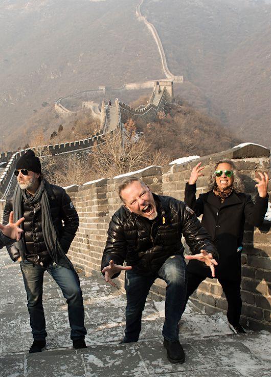 METALLICA ♥♬♥  Muralha da China! Lars Ulrich (baterista) James Hetfield (...