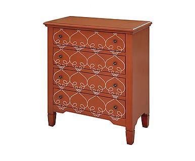 Комод Vivid - береза - оранжевый, 76x38x85 см