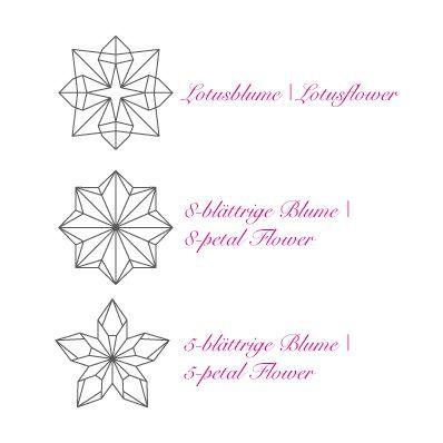 Korkstempel ›Origami – Blumen‹ - S.W.W.S.W.