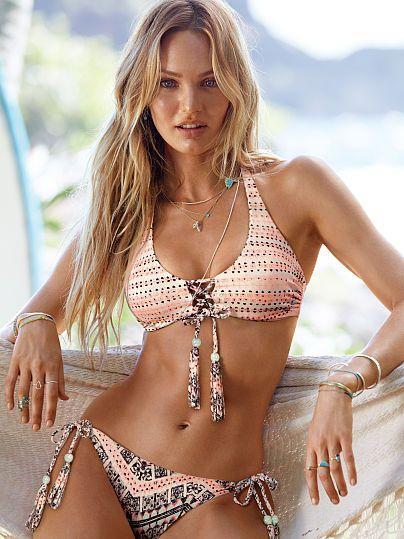 THIS YEARS PICK!!! The Reversible Lace-Up Halter Side Tie Reversible Bottom in Boho Zig Zag/Tile Stripe (2015)                                                                                                                                                      Mais