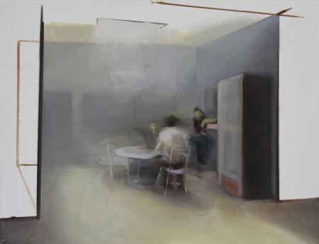 Zoltán Agócz, olej na plátně