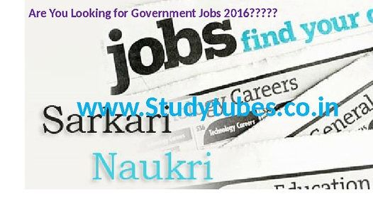 All the Important Details Regarding latest Government Jobs are updated at http://www.studytubes.co.in/government-jobs/. This Video will help you to apply online for Latest Govt Jobs 2016