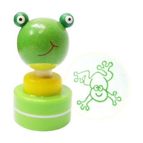 Detská drevená pečiatka - Žabka