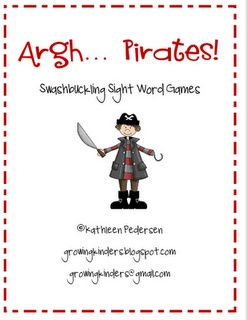 Erica Bohrer's First Grade: Growing Kinders' Aarrgh! Pirates sight word game