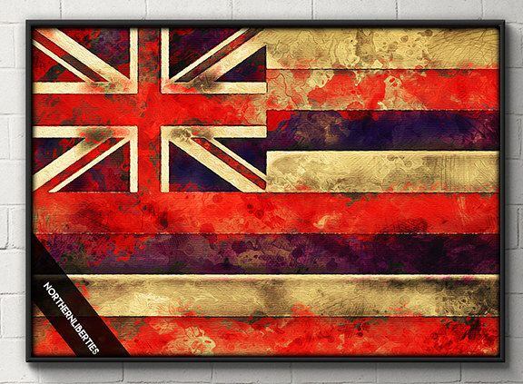 Hawaii Flag Watercolor Poster Hawaii wall art Home Decor DORM decor House Warming Gift Engangement Gift Hawaii Water Color Honolulu Oahu by NorthernLiberties on Etsy https://www.etsy.com/listing/478315687/hawaii-flag-watercolor-poster-hawaii