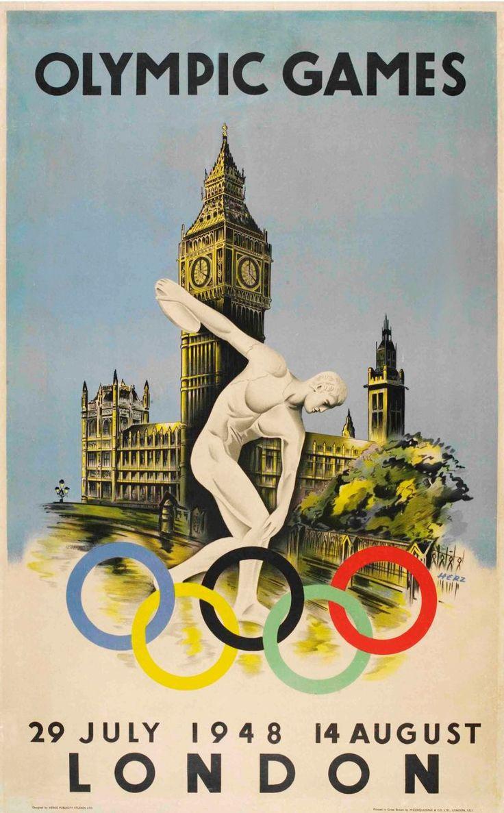 1948 London Summer Olympic Games ~ Walter Herz #Olympics #London1948 #WalterHerz #XIVthOlympiad
