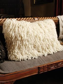 Knit this super-cosy shaggy cushion from our British Sheep Breeds Online Collect