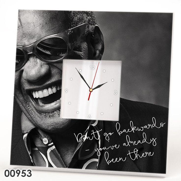 Ray Charles CLOCK Mirror Retro Art Blues Jazz Music Fan Lover Wall Gift Watch #IKEA #Modern