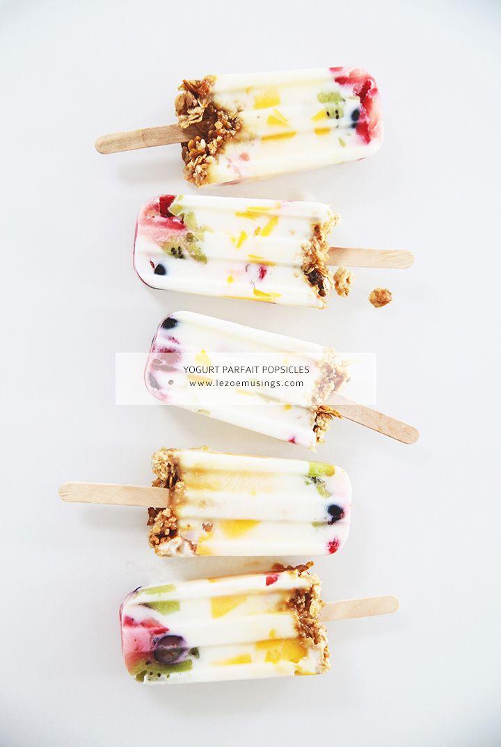 Yogurt parfait popsicles