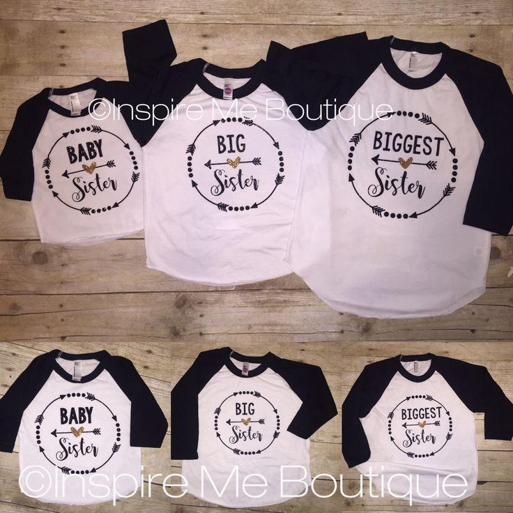 Baby, big and biggest sister shirts