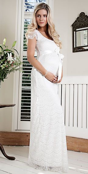 Flutter Maternity Dress Long (Ivory). Possibly an option for pregnant bridesmaids if it comes in other colors.