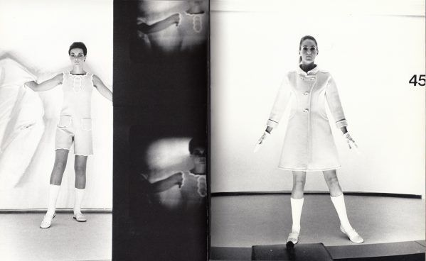 Clothes by Courreges from the Paris Collections, 1967, photo by Bert Stern, <i>Unseen Vogue</i>, 147-148