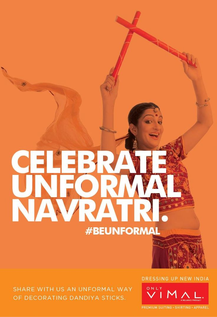 Happy Navratris: A Nine day long festival giving you an opportunity to celebrate #Unformal Garbha-Dandiya . Send us your Unformal Way of decorating Dandiya and you could #win exciting prizes . We will announce winner everyday, #Contest begins today.