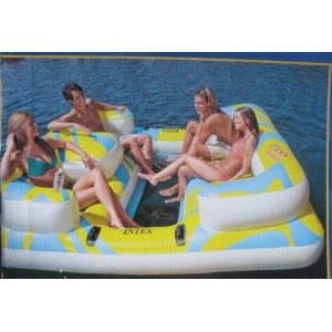 Intex Oasis Inflatable Island Seats 4 People with Mesh Floor and Step Ladder $107.49