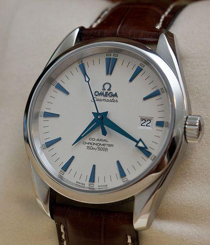 Omega Seamaster Aqua Terra - Leather Strap