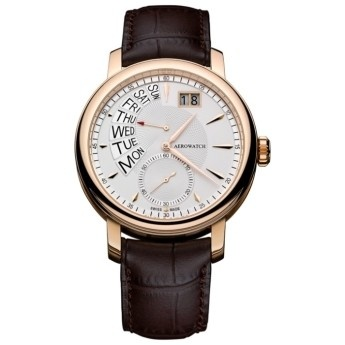 Reloj Zafiro y Oro Rosa Aerowatch Renaissance Cuero Marrón  http://www.tutunca.es/reloj-zafiro-oro-rosa-aerowatch-renaissance-cuero-marron