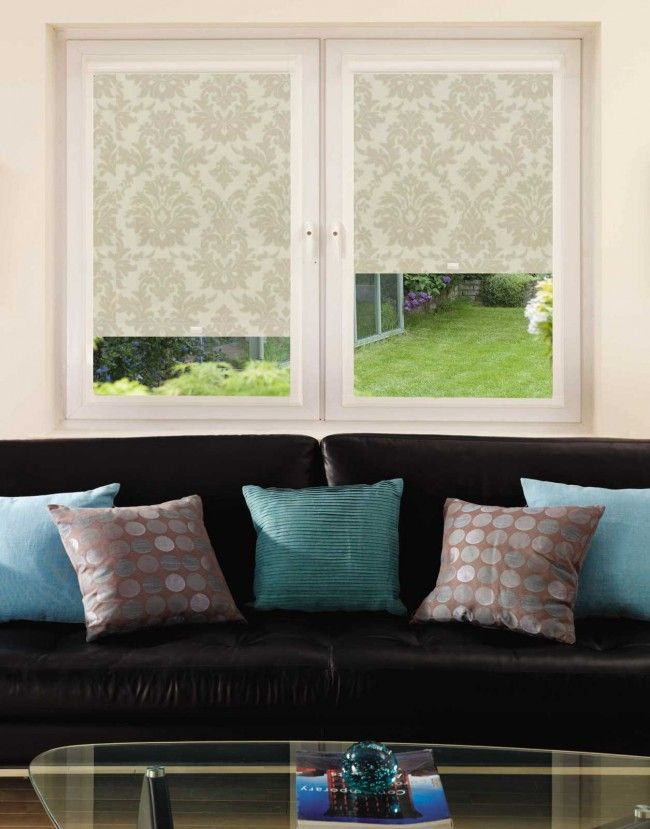 Baroque Sand Perfect Fit Roller Blind - Direct Order Blinds UK