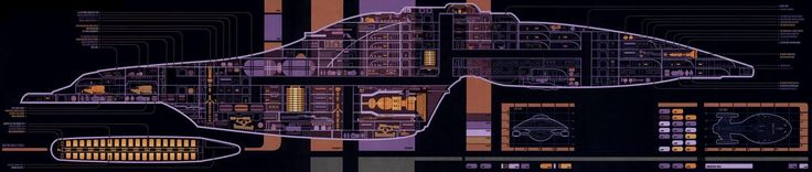 """This is the layout of the USS Voyager according to Star Trek: Voyager Technical Manual, an adaptation of the Star Trek: The Next Generation Technical Manual, intended as a writers guide for VOY Season 1. The 15 decks (with 251 rooms -including the holodeck-) of an type Intrepid-class Federation starship. (VOY: """"Scientific Method""""): Deck 1 Bridge (VOY: """"Caretaker"""") On the starboard side (VOY: """"Good Shepherd""""): Captain's ready room (VOY: """"Caretaker"""") Briefing room (VOY: """"Parallax""""), Bridge..."""