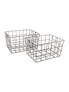 Wire tapered set of 2 baskets for beside cabinet | House of Fraser