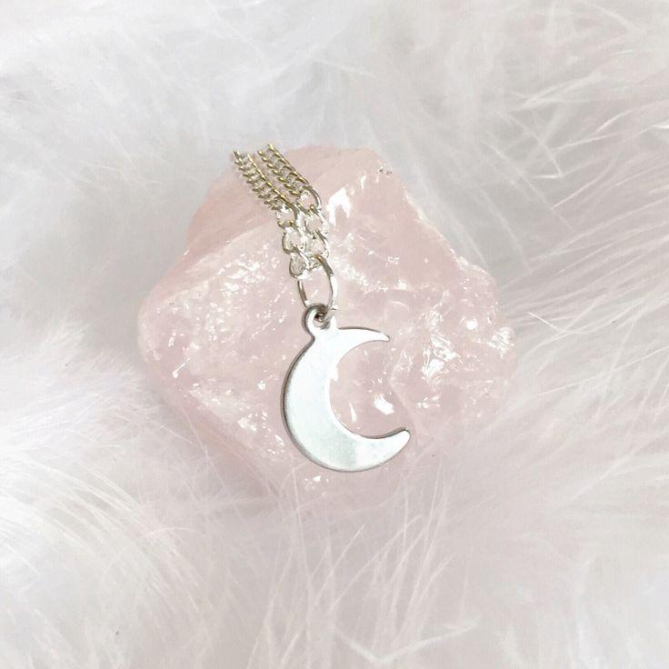 Luna - Dainty Crescent Moon Charm Necklace – Druzy Dreams