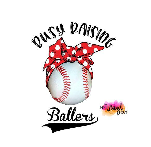 Sticker Busy Raising Ballers Baseball Decal Printed Vinyl
