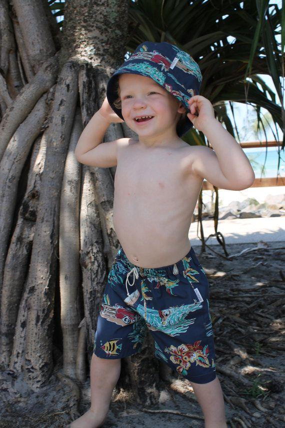 Bermuda Shorts & Sun Hat by HullabalooKids on Etsy, $35.00