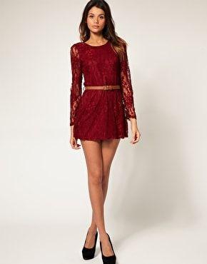 vestido-de-manga-longa-de-renda-vermelho-1