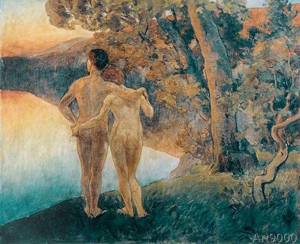 Viggo Pedersen - Zu später Dämmerstunde. Adam und Eva