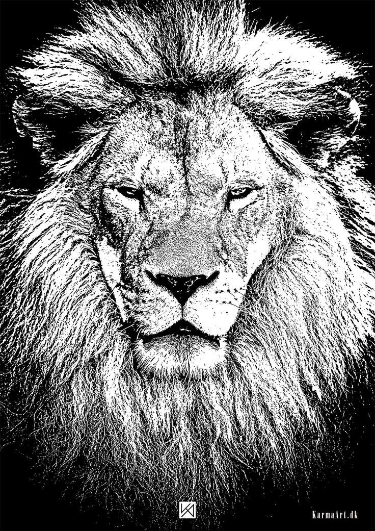 Billede af Løve plakat