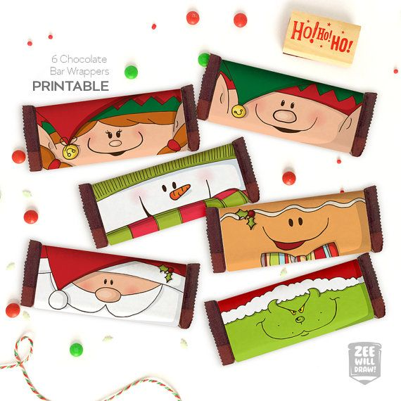 Christmas candy bar wrappers candy bar wrappers by zeewilldraw