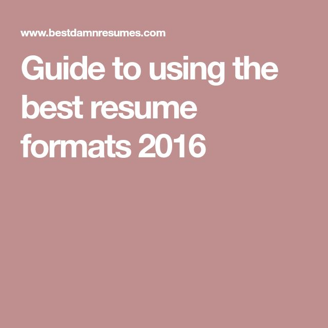 The 25+ best Standard resume format ideas on Pinterest Standard - making the perfect resume