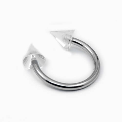 Surgical Steel Circular Barbell with Clear Acrylic Spikes - Pierce of Mind