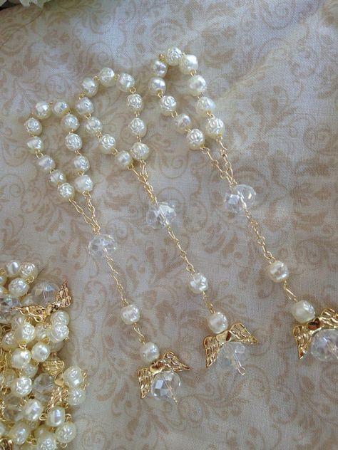 25 pcs Angel baptism favors/ ivory communion by WEDDINGLASSOS, $19.49