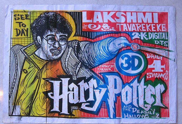 Hand Drawn Movie Posters - Harry Potter  #bollywood #mumbai #tollywood #kollywood #film #cinema #actor #actress #desi #hindi #theatre