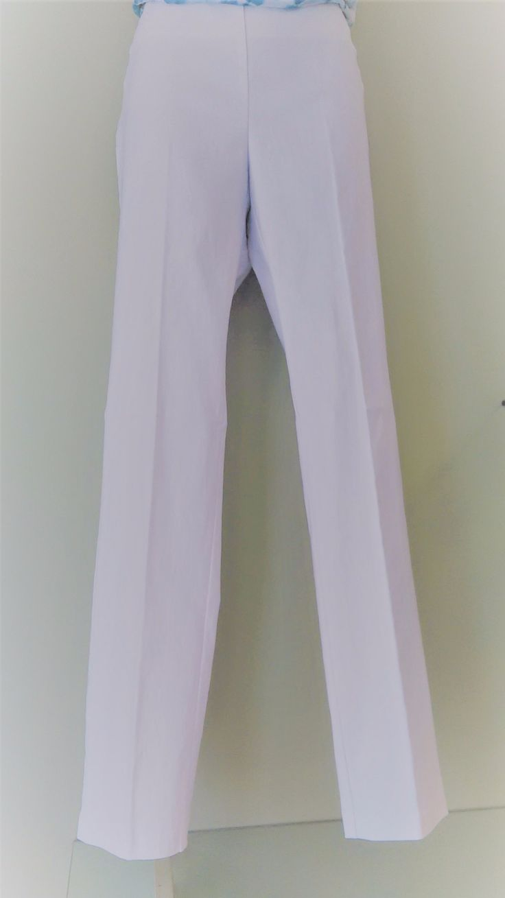Slim Fit Pull On Pants - White