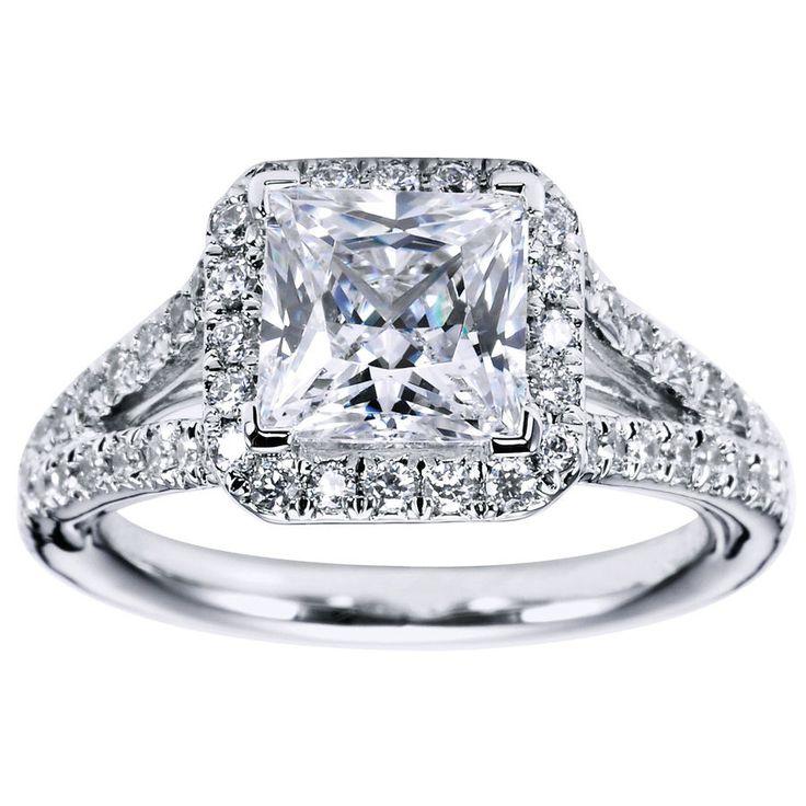 Princess Cut Halo Engagement Ring | Princess Cut Halo Engagement Ring Setting 31 - Gerry The Jeweler-- omg I'm obsessed!!