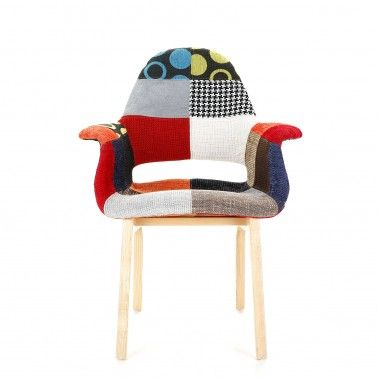 The Replica Eames Organic Patchwork Chair is a favourite among the knitters out there. Its obvious patchwork quilt influence makes it a quirky chair with a difference. Pretty comfortable to. #patchworkchair