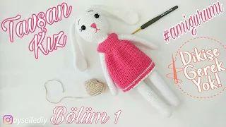 AMİGURUMİ KIZ BEBEK ANAHTARLIK YAPIMI (Crochet making baby girl ... | 180x320