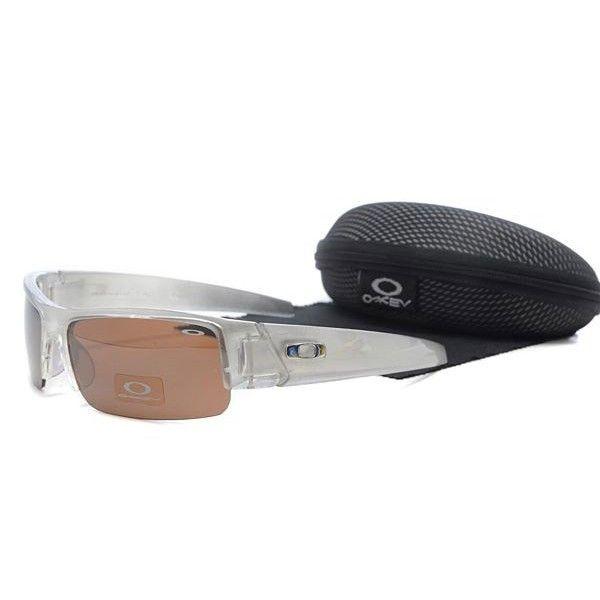 oakley gascan sunglasses brown  $15.99 replica oakley gascan sunglasses brown lens clear white frames store deals racal.