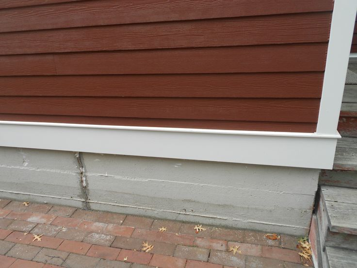 Countrylane Red Siding And Bandboard As Well As Drip Caps