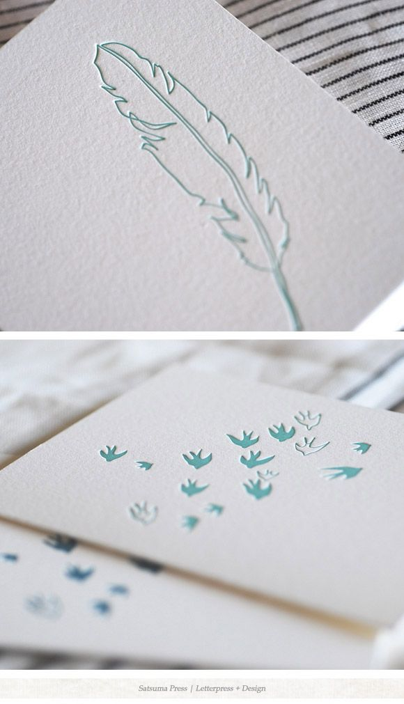 letterpress cards and paper goods from Satsuma Press