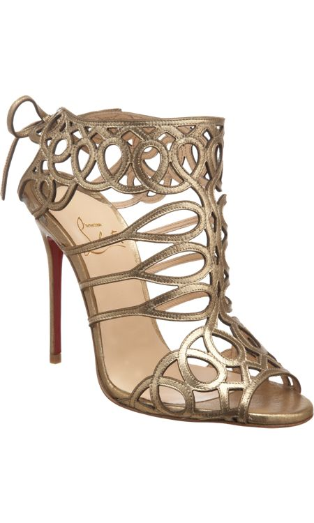 Christian Louboutin Zigouwi Sandals Gold [CELE00701] - $225.00 : Discount Christian Louboutin - Jimmy Choo and other Brand shoes store