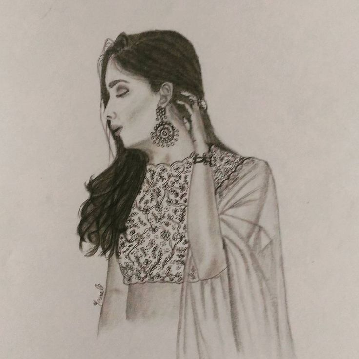 """52 Likes, 5 Comments - Dedicated to Art 🇮🇳 (@creativitytrance) on Instagram: """"Today's inspiration is from a fashion blog TIC....randomly came across the pic & sketched it out ☺…"""""""