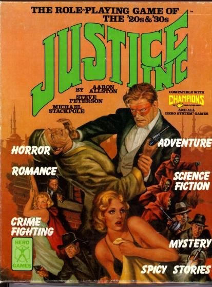 Justice Inc RPG boxed set from Hero Games (1984)