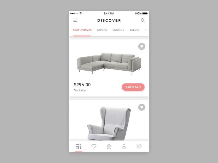 Furniture Shop App #touchfeedback
