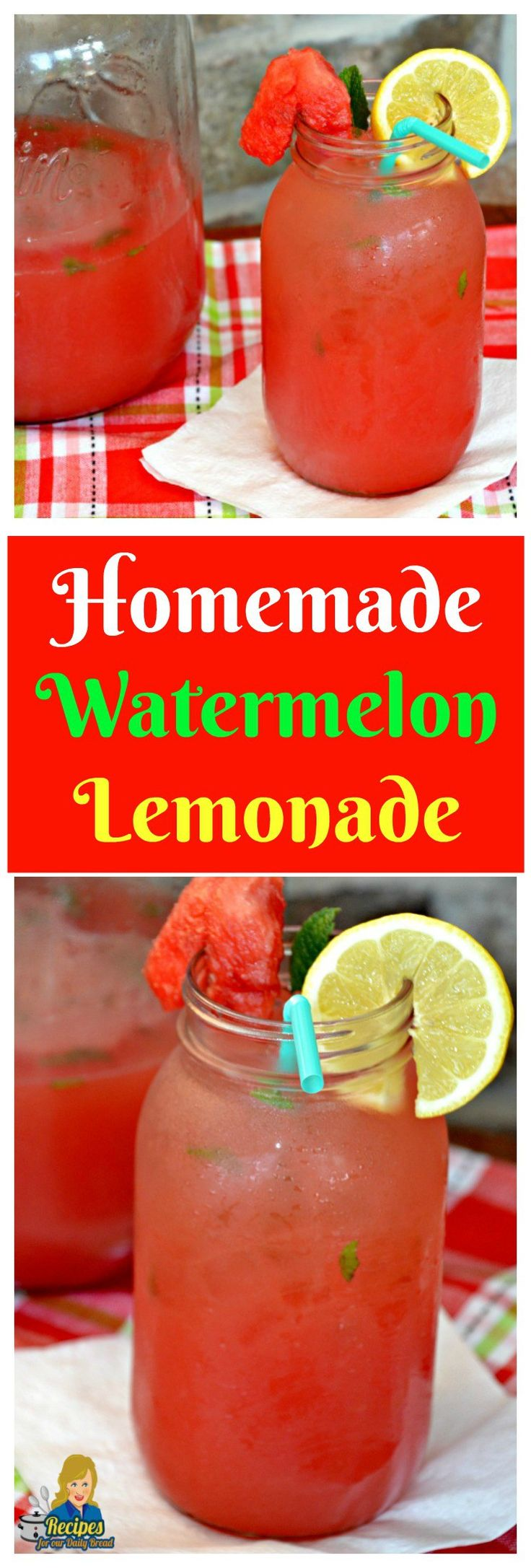 HOMEMADE WATERMELON LEMONADE  Summer is finally here.  Cool off with this simple homemade Southern Watermelon Lemonade.  Made with freshly squeezed lemons and watermelon.   You Should See full recipe here: http://recipesforourdailybread.com/homemade-water (alcoholic desserts simple)