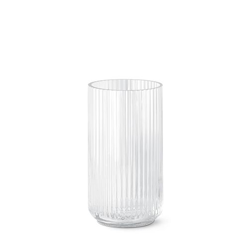 Our original 25 cm Lyngby vase in crystal glass.